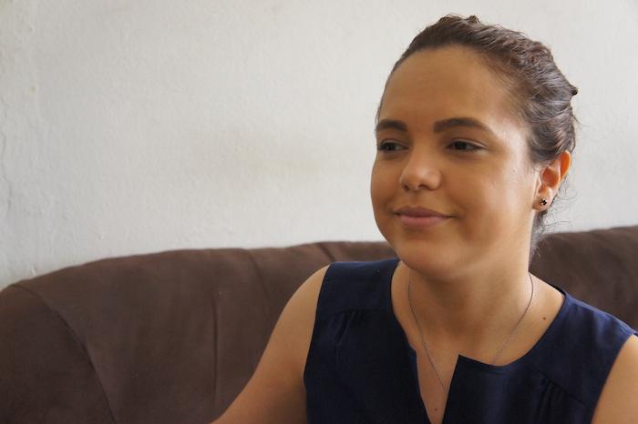 Nancy Durán Rodríguez llegó a Puerto Rico a los 16 años con un permiso de residencia permanente. Obtuvo su ciudadanía americana hace alrededor de un mes, tras 10 años en la Isla. (David Cordero Mercado / Diálogo)