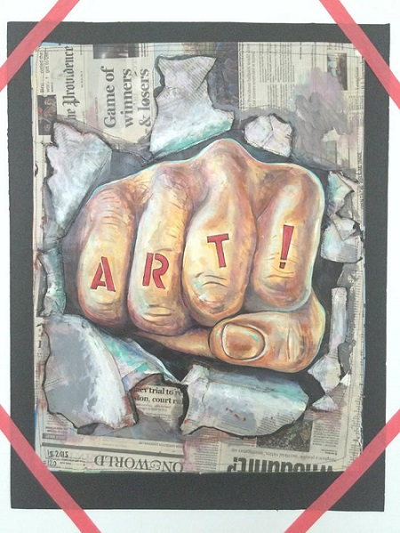 """Art"", la pieza que culmina la muestra de Umberto Crenca. (Jorge Fusaro / Matadero Art)"