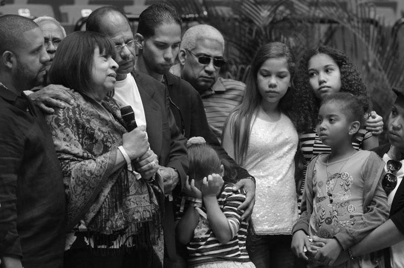 Cocó y los familiares de Cheo