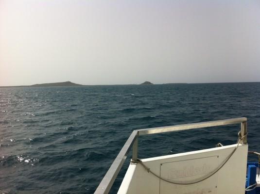 Isla Caja de Muerto vista desde la embarcación (José Coss Charriez)