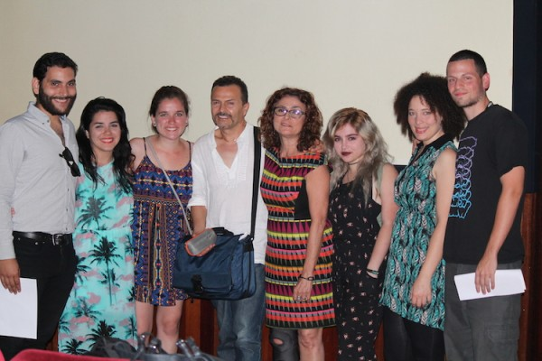 Algunos de los estudiantes puertorriqueños que participaron del una experiencia educativa en La Escuela de Cine y Televisión de Cuba. (Michelle Estades)