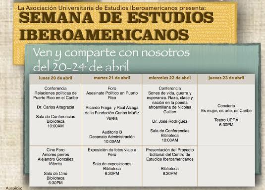 Itinerario de la Semana de Estudios Iberoamericanos
