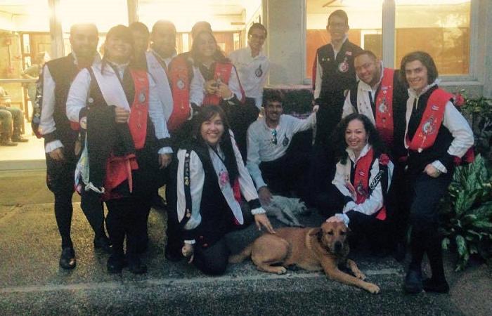 ¡Qué perritos estos! Hasta fueron miembros honorarios de la Tuna de la UPR. (Facebook)