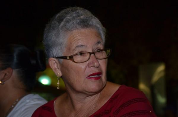 Lourdes, 60, fue por primera vez a la fiesta de las Justas, y aseguró que otro año no iría. (David Pérez/ Diálogo)