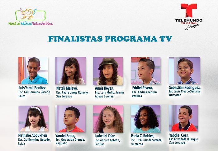 Los 10 semifinalistas. (Suministrada)