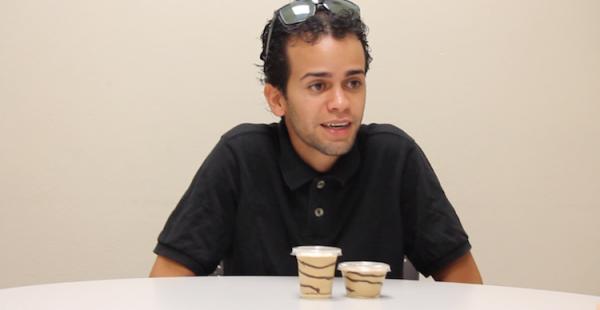 Miguel López Nazario y su Mantecado de Café. (Michelle Estades)
