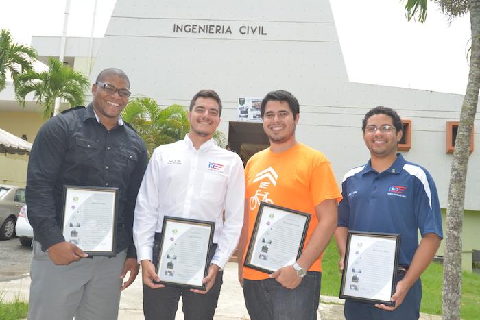 Desde la izquierda, Jorge Saliva, David Soto, Ricardo García y Jean López. (Suministrada)