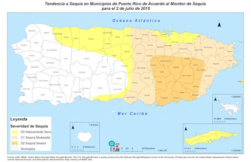 Ocho municipios se sumaron a la lista de sequía severa en la Isla, según el informe. (Suministrada)