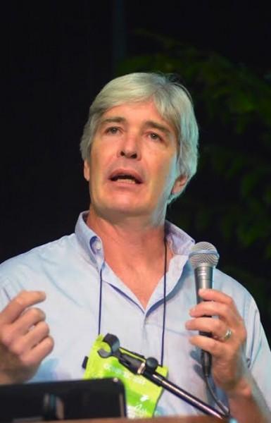 Joshua Farley centró su ponencia en la Agricultura, los ecosistemas y la sobrevivencia humana. (Suministrada)
