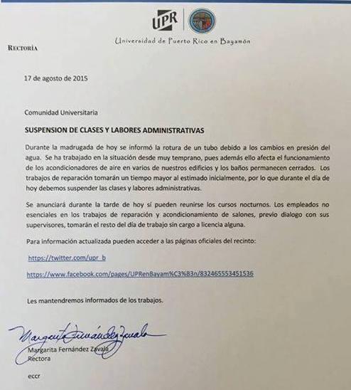Comunicado UPRB