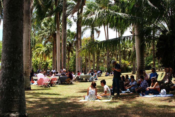 Los invitados fueron recibidos con quenepas, carambolas, mangos y otras frutas tropicales. (Juan Carlos Castillo/Diálogo)