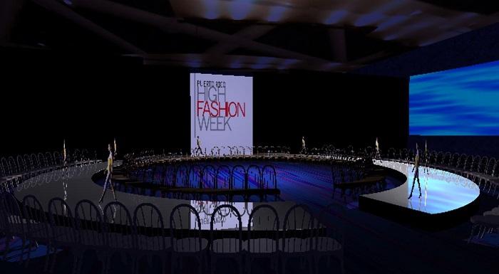 El escenógrafo diseño la pasarela de moda para el Puerto Rico High Fashion Week, en el 2010. (Suministrada)