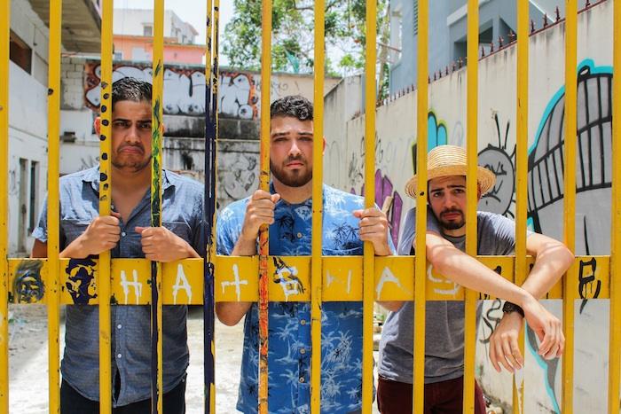 Miembros de la banda Los Rivera Destino: Antonio Sánchez, Carlos Figueroa y Fernando Tarrazo. (Nilsa Montañez/Suministrada)