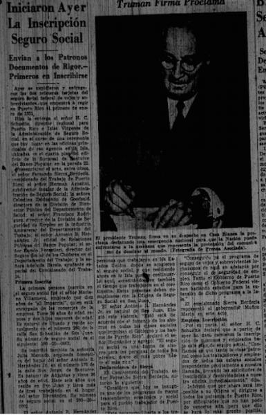 Recorte del periódico El Mundo sobre el SS en Puerto Rico. (Suministrada)