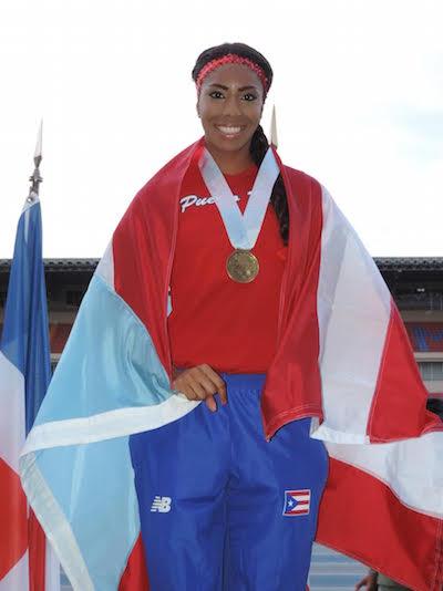 Natshalie Isaac, ganadora de oro en los 100 metros con valla. (Suministrada)