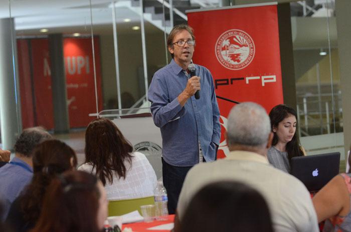 El presidente de PRTQ, Luis Fernando Coss presentó un informe sobre los logros de la revista. (Ricardo Alcaraz/ Diálogo)