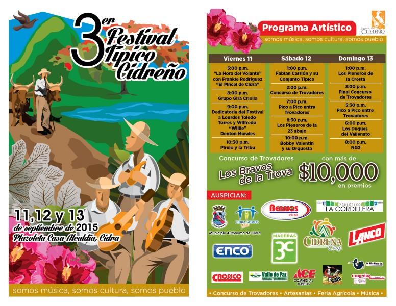 Promoción Festival Típico Cidreño. (suministrada)