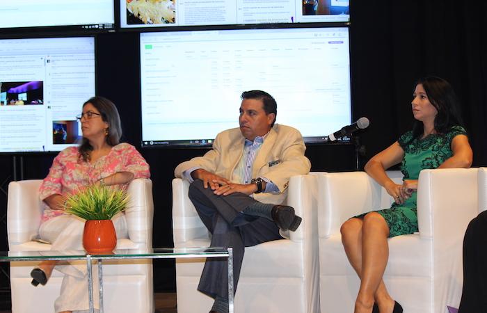 De izquierda a derecha, la doctora Brenda Rivera, el doctor Nabal Bracero y la licenciada Linnette Sánchez durante la conferencia de prensa de VOCES. (Glorimar Velázquez / Diálogo)