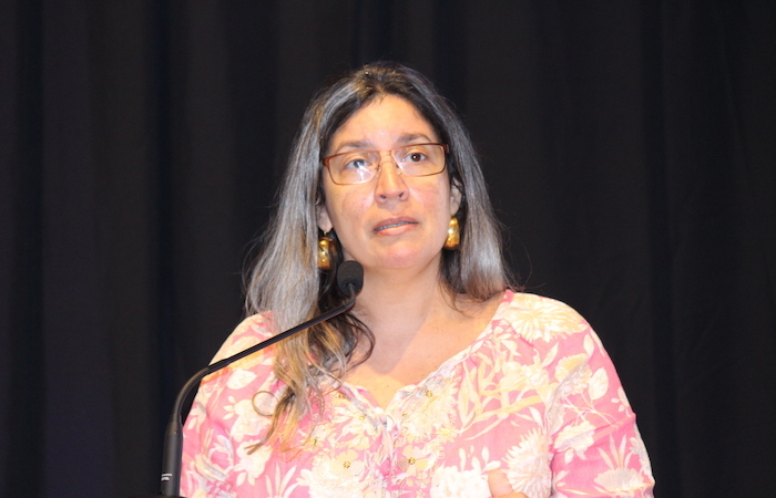 La epidemióloga del estado, doctora Brenda Rivera, presentó un cuadro formal del historial de la Influenza en la Isla. (Glorimar Velázquez / Diálogo)