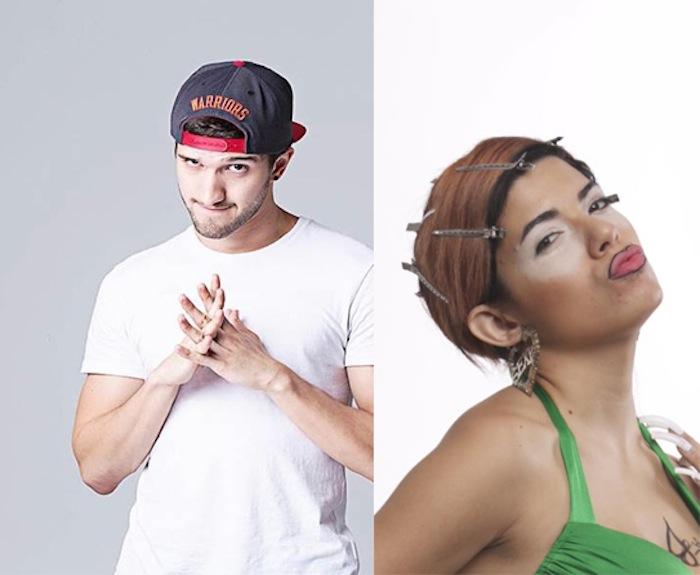 Buoy y Natalia Lugo en su personaje de Franchesca la Yal. El primero, cuenta con 136,000 seguidores en la red social Vine y la segunda, cuenta con 170,650 seguidores en su perfil de Facebook. (Fuente: Facebook)