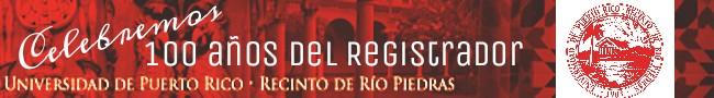 Logo de los 100 años de la Oficina del Registrador. (Abigaíl Zoé Moreno/ Diálogo)