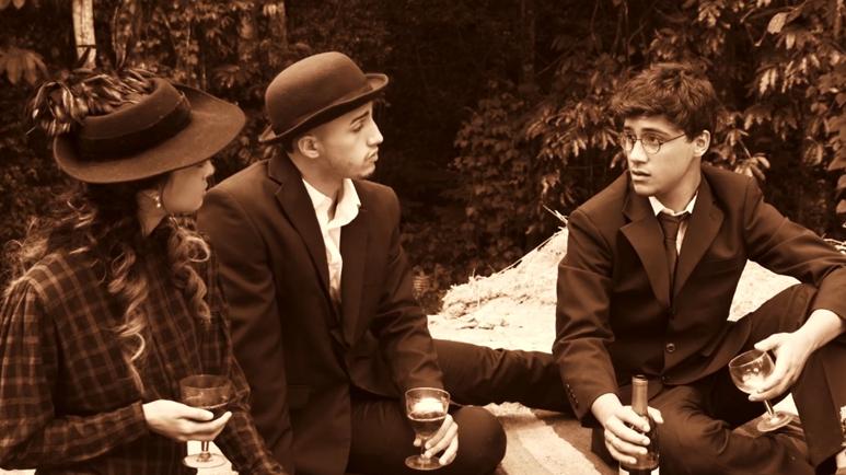 Diálogo entre Harriet Hardy Taylor, John Stuart Mills y Eugenio María De Hostos, representado en el cortometraje. (suministrada)