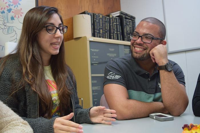 Nadia Yusif y Joel Encarnación Rosado lograron premio en la categoría de Biología del Cáncer (José Karlo Pagán/Diálogo)