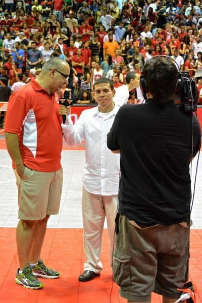 Edwin Feliciano en entrevista junto al Director Atletico de la UPR Recinto de Río Piedras, David Alemán