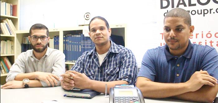 Desde la izquierda, Giancarlos Morales, Jorge Mulero y Otto Rosario. (Brian Báez / Diálogo)