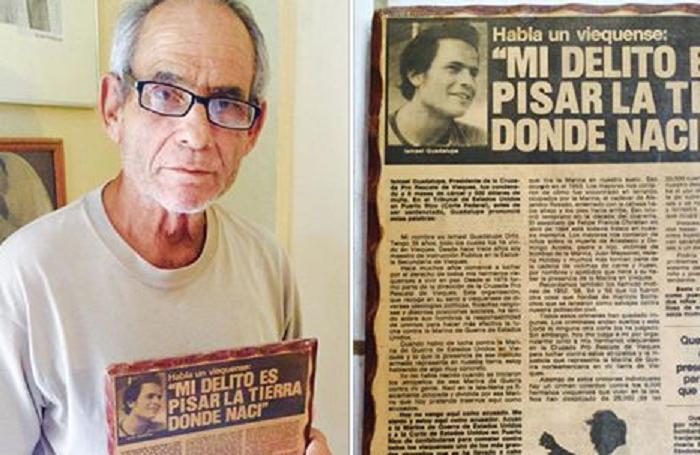 Ismael Guadalupe todavía saborea los tantos actos de desobediencia civil que organizó para sacar la Marina de su tierra. (PRTQ)