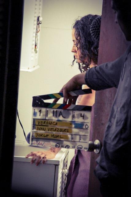 Durante la grabación del filme. (Suministrada)