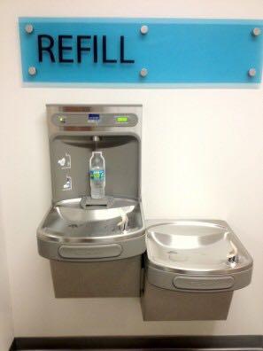 Fuente de agua. (Suministrada)