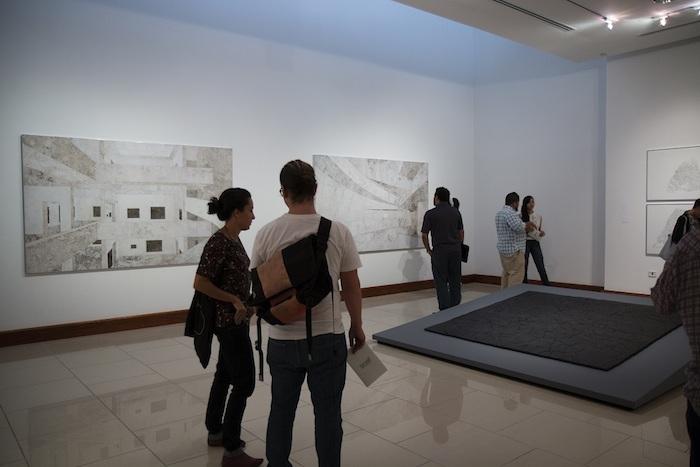 Apertura de la exhibición del Centro de Estudios Humanísticos Dra. Josefina Camacho de la Nuez en la Universidad del Turabo, sede de la 4ta Trienal Poli/Gráfica de San Juan, América Latina y el Caribe.