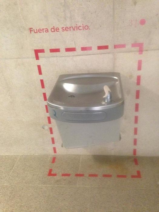 Fuente de agua en la UPRRP. (Suministrada)