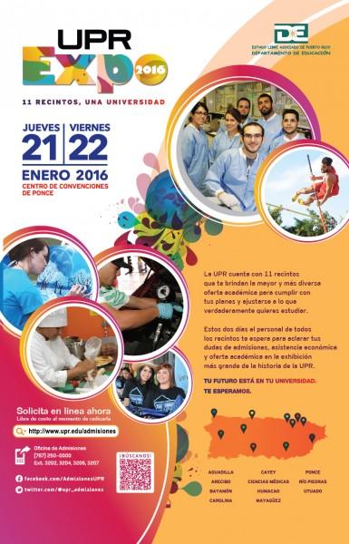Afiche de la Expo UPR. (Suministrada)