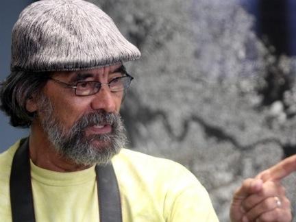 Santiago Reillo en una conferencia sobre el proyecto de la Península de Cantera en Pennsylvania. (Suministrada)