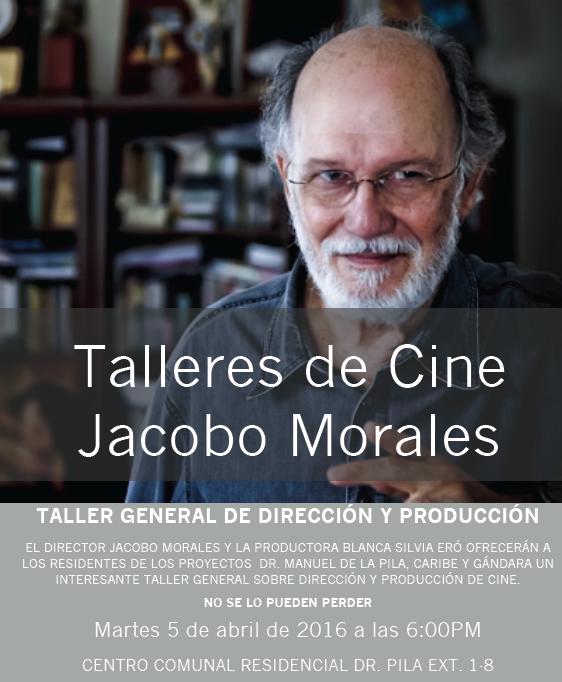 Flyer Taller con Jacobo Morales. (Suministrado)