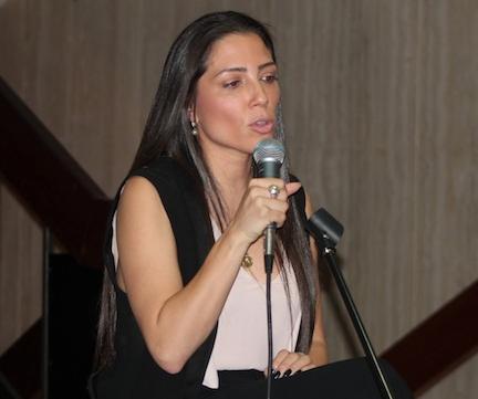Alexandra Lúgaro, candidata independiente. (Deborah Rodríguez/ Diálogo)
