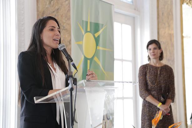 Alexandra Lúgaro en el foro de Cumbre Social. (Jerry Beltrán para Diálogo)