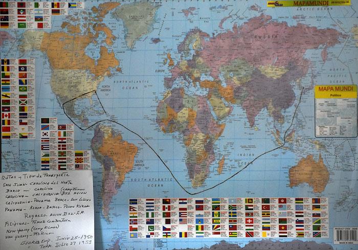 Mapa ruta Corea