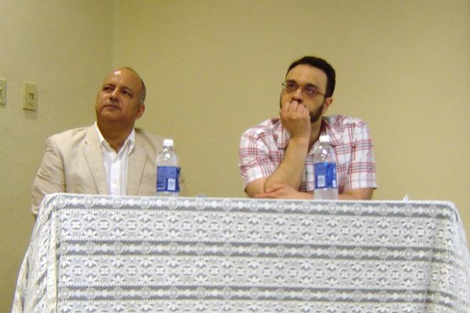 Los doctores Mario Edgardo Roche Morales y Raúl José Feliciano Ortiz participaron del evento educativo. (Suministrada)
