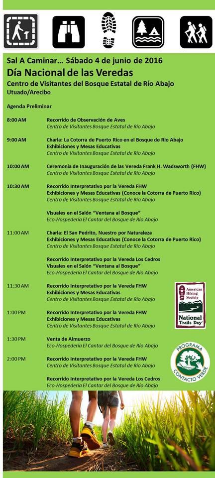 Agenda Día Nacional de las Veredas