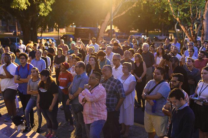 Actividad de solidaridad con las víctimas de Orlando. (Glorimar Velázquez/ Diálogo)