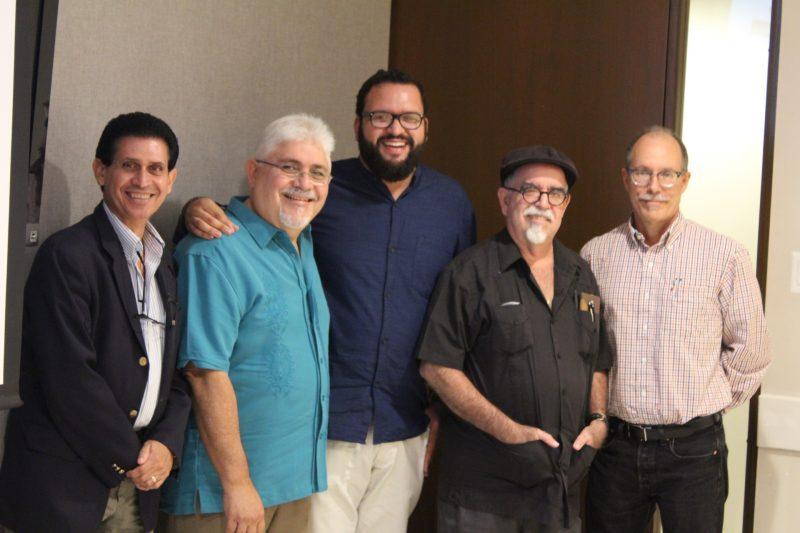 Edwin Crespo Torres, Emilio Pantojas García, Luis Cintrón, Jaime Pérez Rivera y Lanny Thompson (Perla Rodríguez / Diállogo)