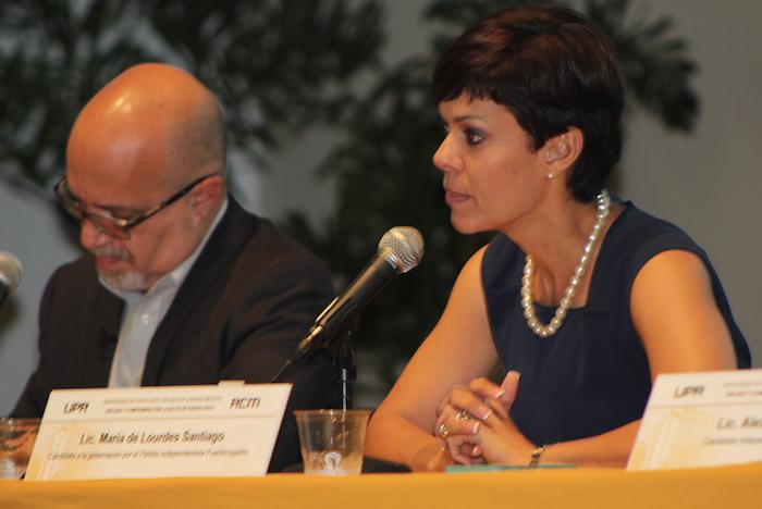 María de Lourdes Santiago, candidata del Partido Independentista Puertorriqueño. (José Encarnación/ Diálogo)