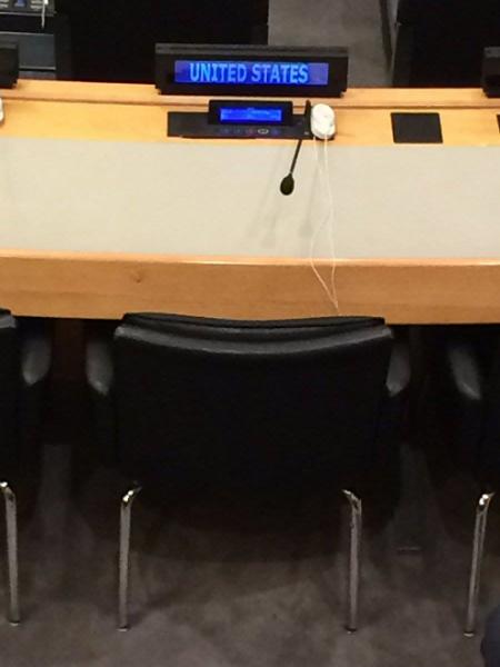 Estados Unidos se ausentó nuevamente de la sesión de la ONU. (Facebook)