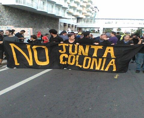 Protesta en el Hotel Condado Plaza. (Hermes Ayala/ Diálogo)