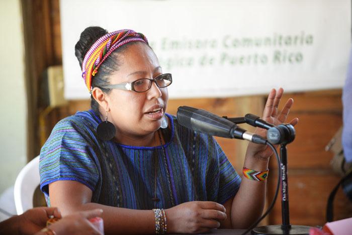 Lorena Cabnal, ambientalista guatemalteca. (Ricardo Alcaraz/ Diálogo UPR)