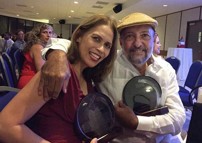 Odalys Rivera y Ricardo Alcaraz.