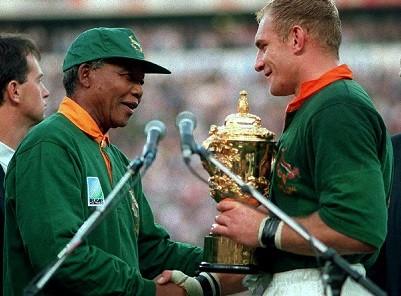 Nelson Mandela y Francois Pienaar